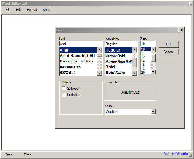 Full iText Editor screenshot